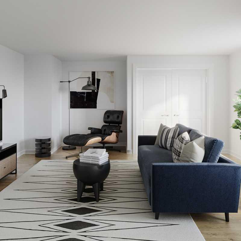 Contemporary Living Room Design by Havenly Interior Designer Jill