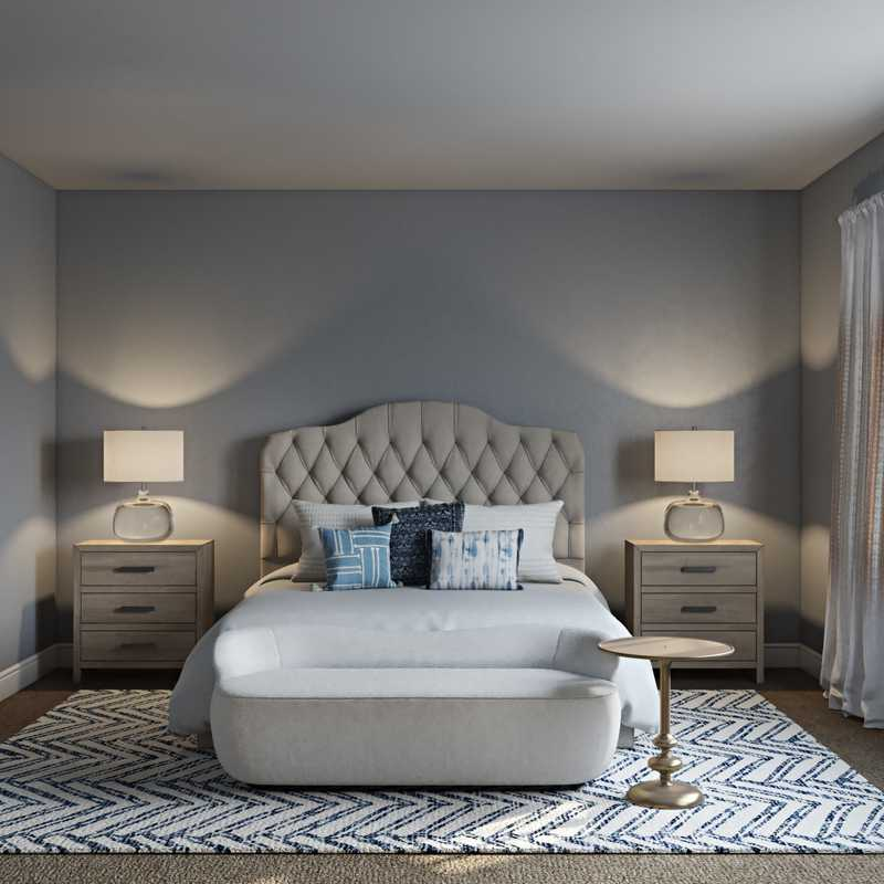 Classic, Bohemian, Coastal, Traditional, Transitional Bedroom Design by Havenly Interior Designer Natalie