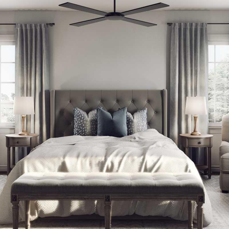 Modern, Minimal Bedroom Design by Havenly Interior Designer Jillian
