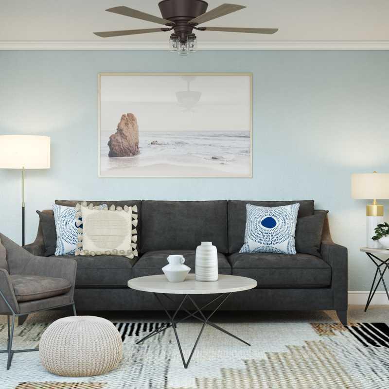 Contemporary, Transitional, Midcentury Modern, Scandinavian Office Design by Havenly Interior Designer Hayley