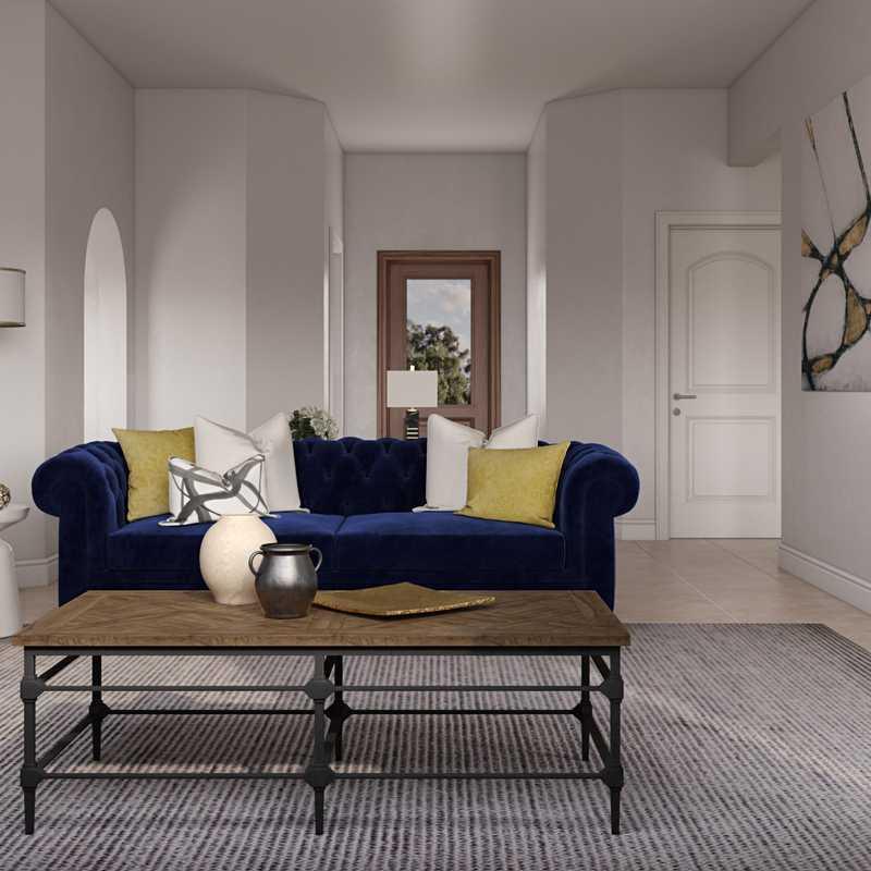 Modern, Classic, Glam Living Room Design by Havenly Interior Designer Eva