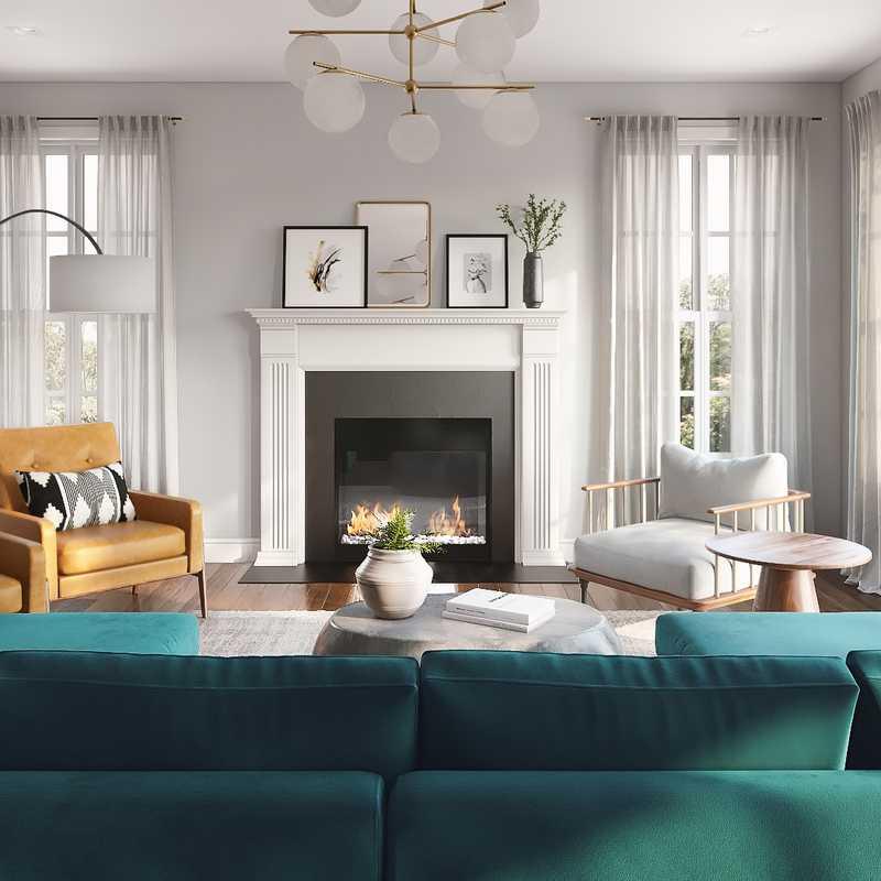 Contemporary, Industrial Living Room Design by Havenly Interior Designer Britney