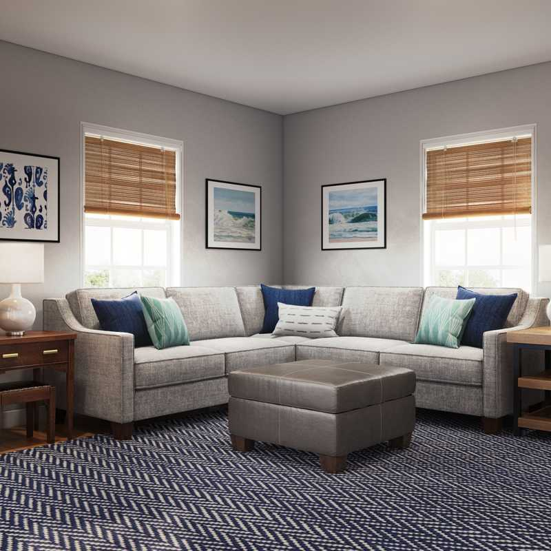 Coastal Living Room Design by Havenly Interior Designer Rachel
