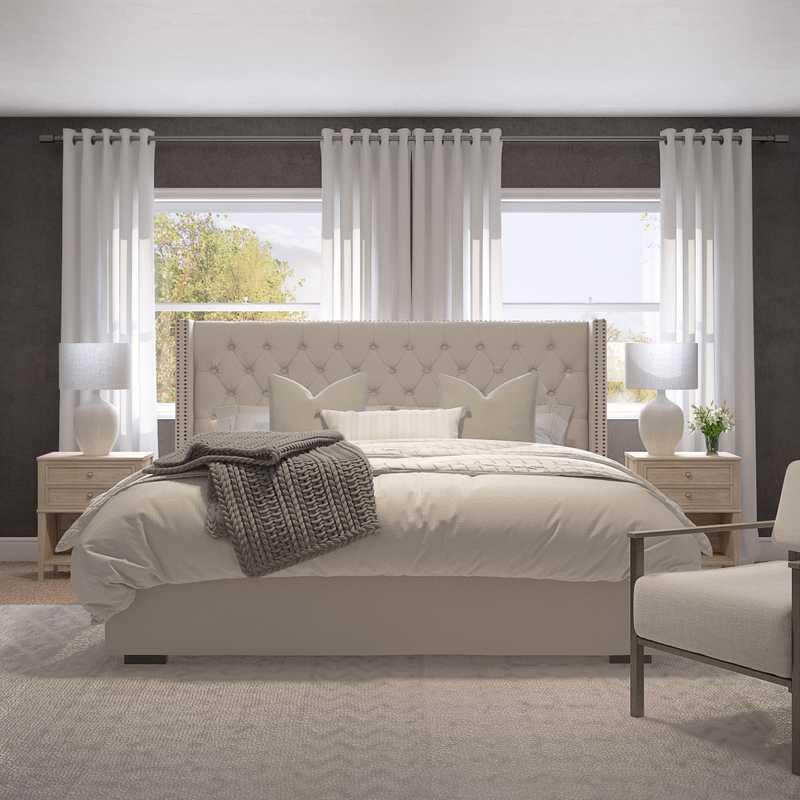 Modern, Farmhouse Bedroom Design by Havenly Interior Designer Namita