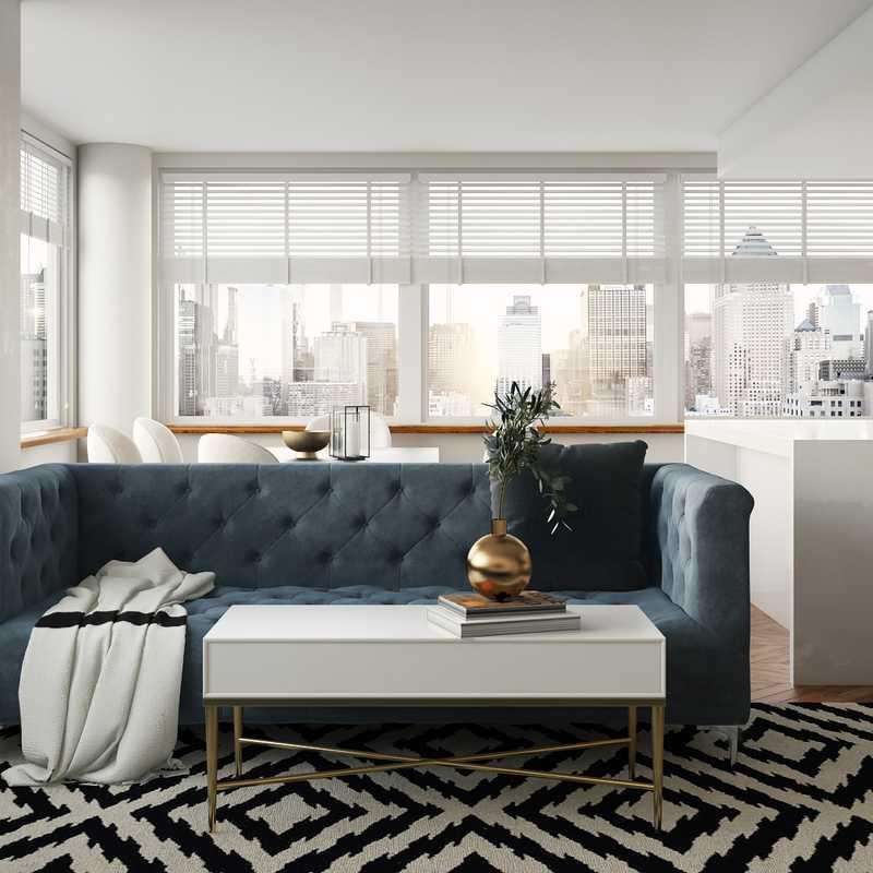 Modern, Glam Living Room Design by Havenly Interior Designer Pradnya