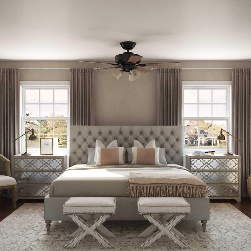 Classic, Glam Bedroom Design by Havenly Interior Designer Allison