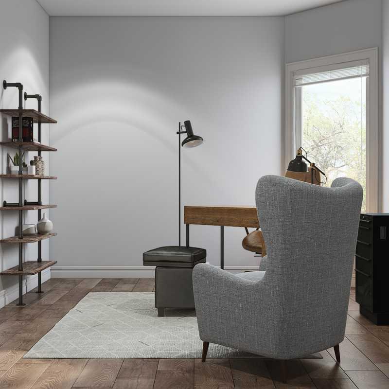 Industrial Office Design by Havenly Interior Designer Juliana