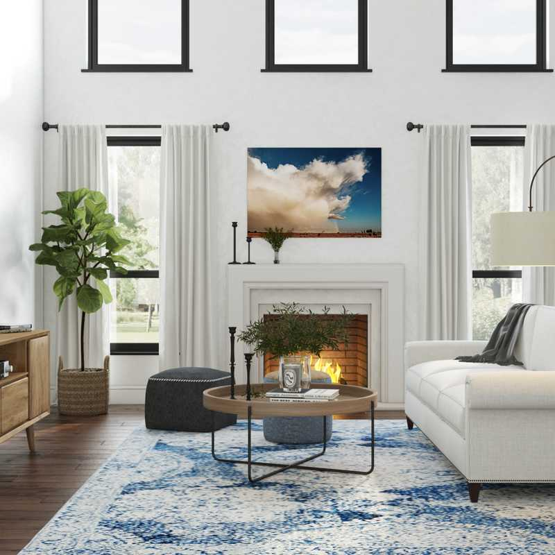 Traditional, Farmhouse, Transitional Living Room Design by Havenly Interior Designer Regina