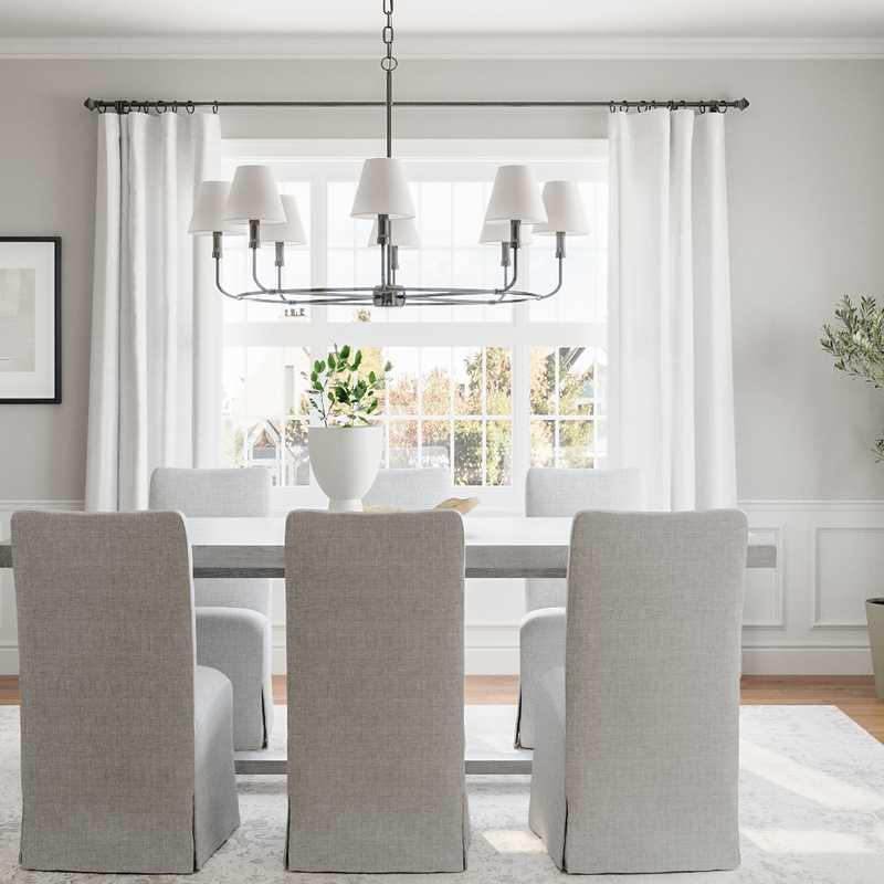 Contemporary, Classic Living Room Design by Havenly Interior Designer Sarah