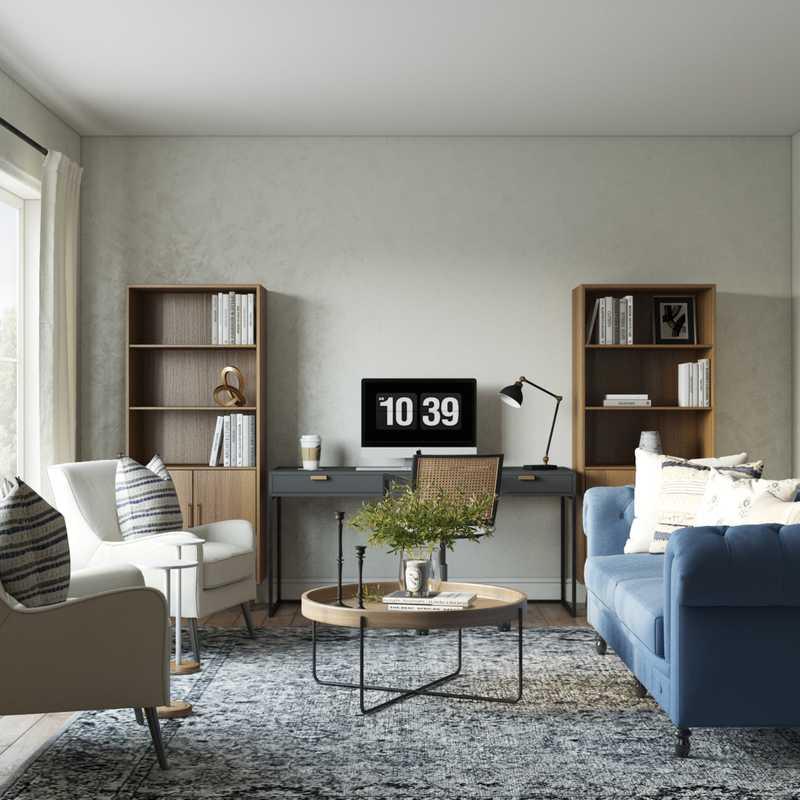 Modern, Transitional Office Design by Havenly Interior Designer Brenna