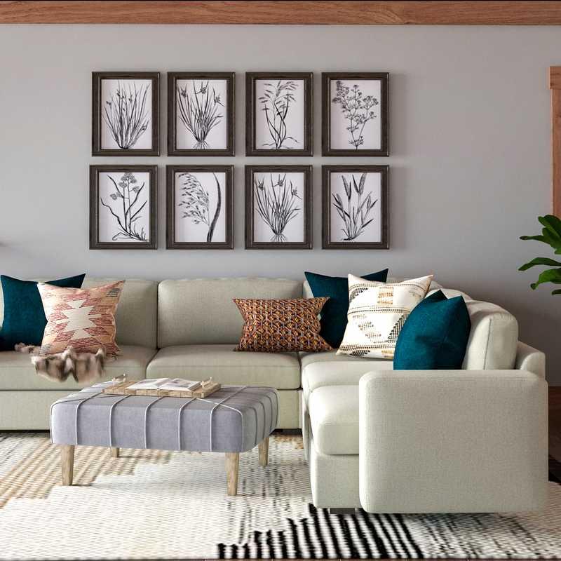 Contemporary, Transitional Living Room Design by Havenly Interior Designer Elizabeth