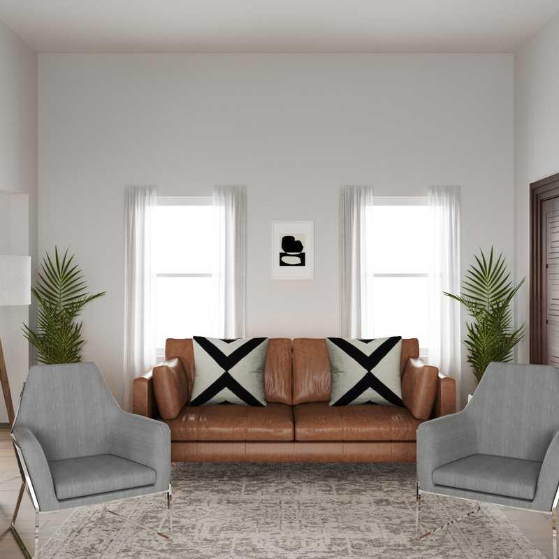 Modern, Transitional Living Room Design by Havenly Interior Designer Danielle