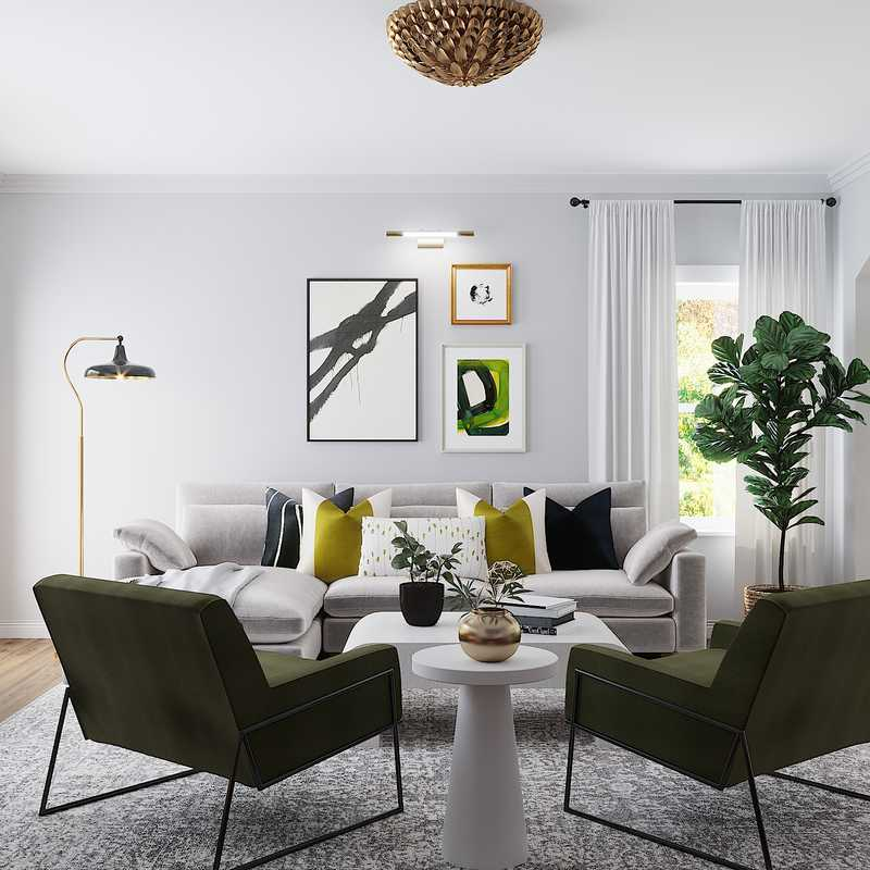 Modern Living Room Design by Havenly Interior Designer Dani