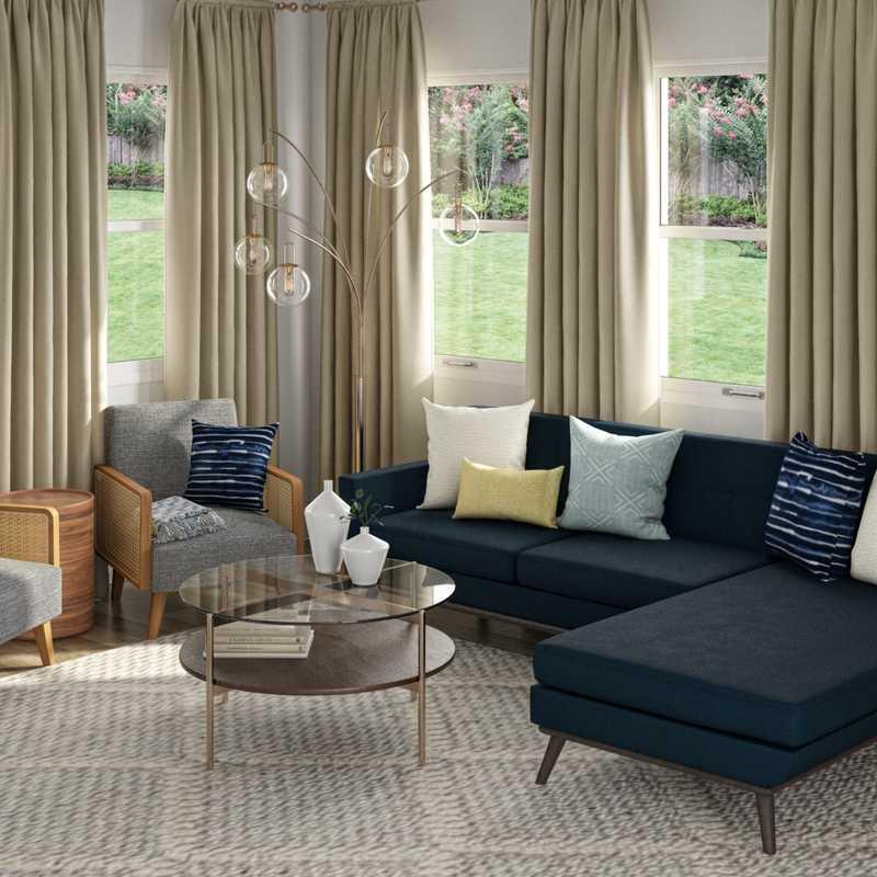 Midcentury Modern Living Room Design by Havenly Interior Designer Patrice