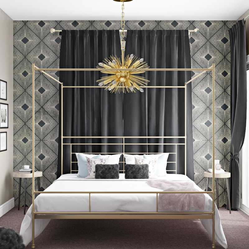Modern, Eclectic, Glam Bedroom Design by Havenly Interior Designer Titi
