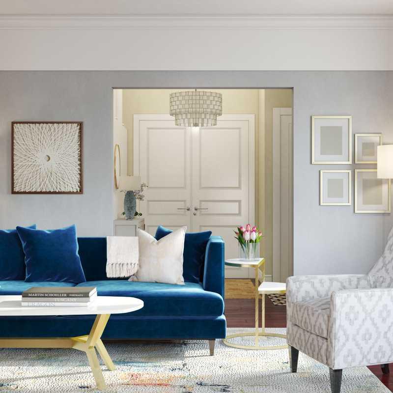Modern, Glam Living Room Design by Havenly Interior Designer Yoseika