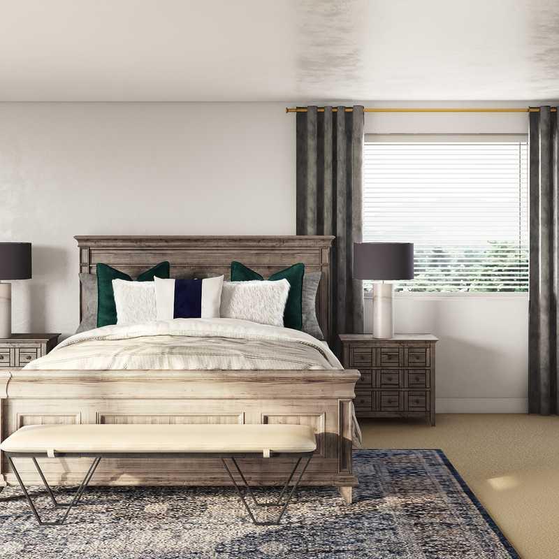 Industrial, Rustic Bedroom Design by Havenly Interior Designer Sara
