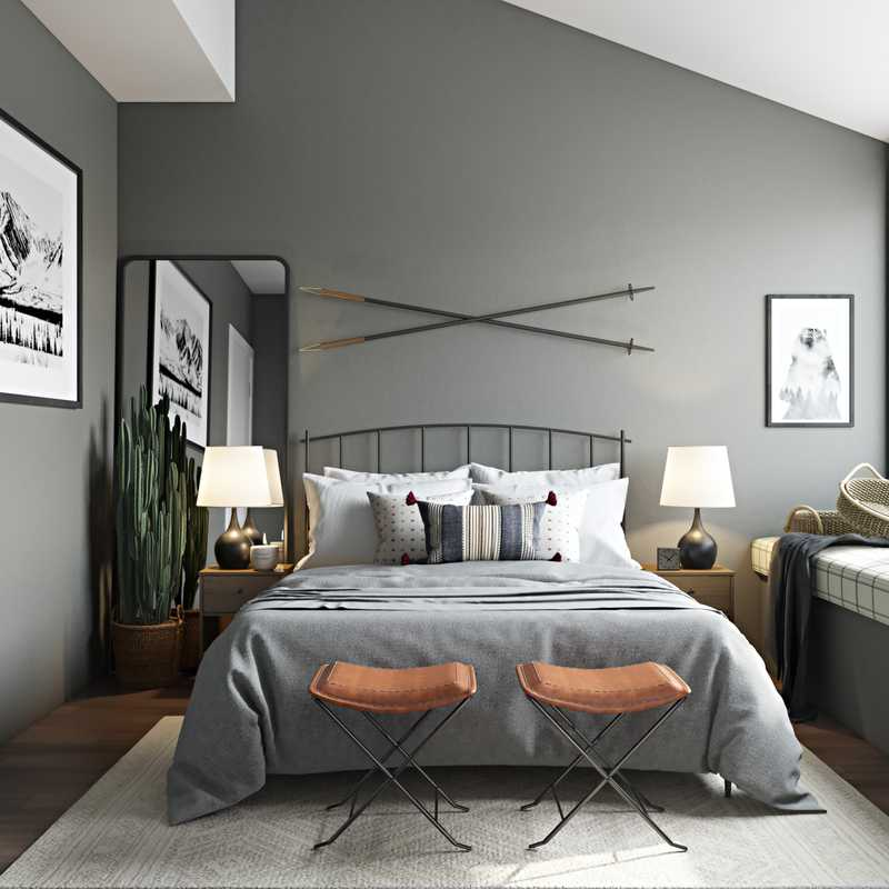 Modern, Rustic Bedroom Design by Havenly Interior Designer Brenna