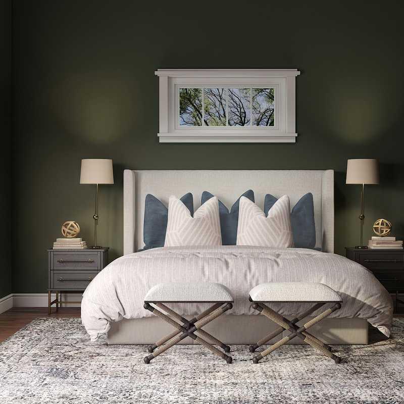 Bohemian, Midcentury Modern Bedroom Design by Havenly Interior Designer Taylor