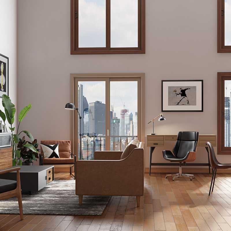 Contemporary, Industrial, Rustic Living Room Design by Havenly Interior Designer Alicia