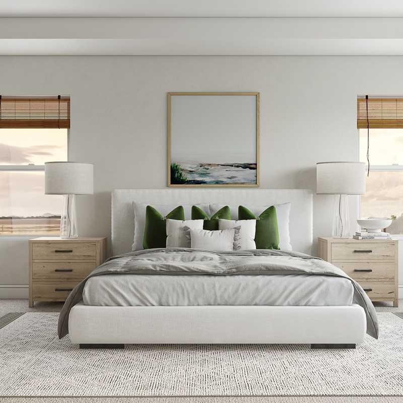 Bohemian, Coastal, Scandinavian Bedroom Design by Havenly Interior Designer Nicole