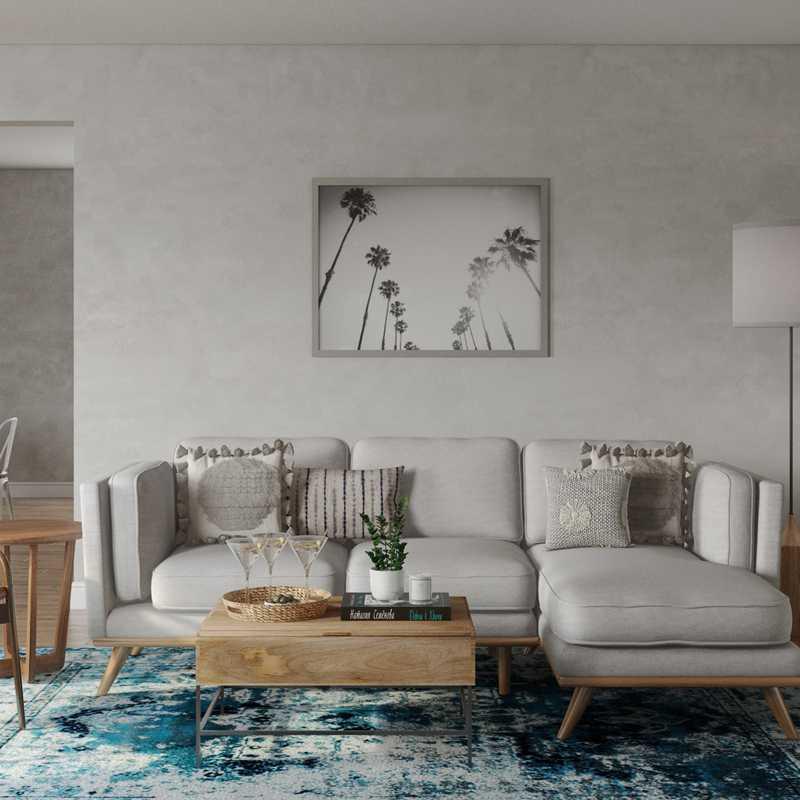 Bohemian, Midcentury Modern Living Room Design by Havenly Interior Designer Kaitlin