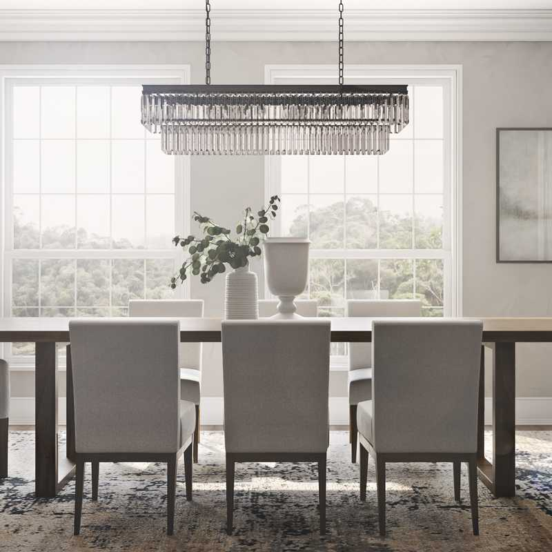 Transitional Dining Room Design by Havenly Interior Designer Brittani