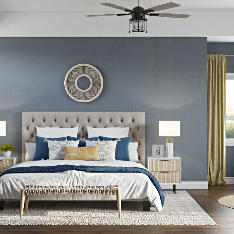 Contemporary, Modern, Transitional, Midcentury Modern Bedroom Design by Havenly Interior Designer Fendy
