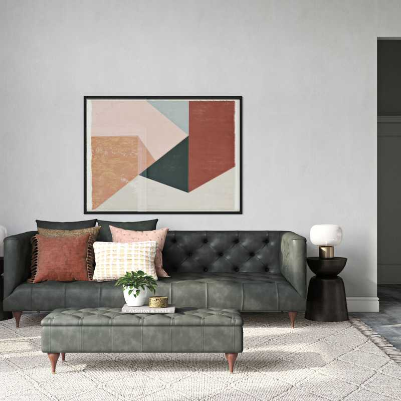 Contemporary, Eclectic, Bohemian, Global Living Room Design by Havenly Interior Designer Stacy