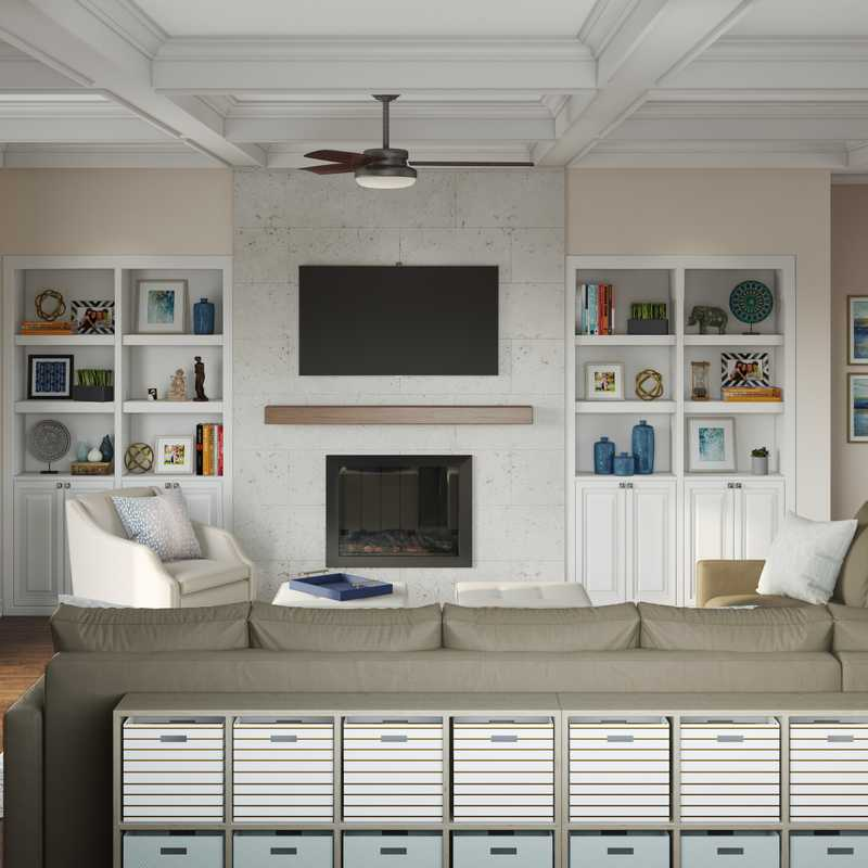 Classic, Traditional, Preppy Living Room Design by Havenly Interior Designer Michelle