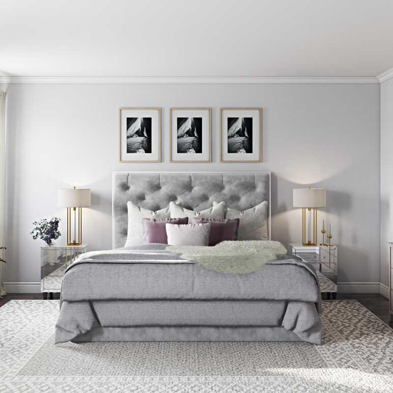 Classic, Glam Bedroom Design by Havenly Interior Designer Kamila
