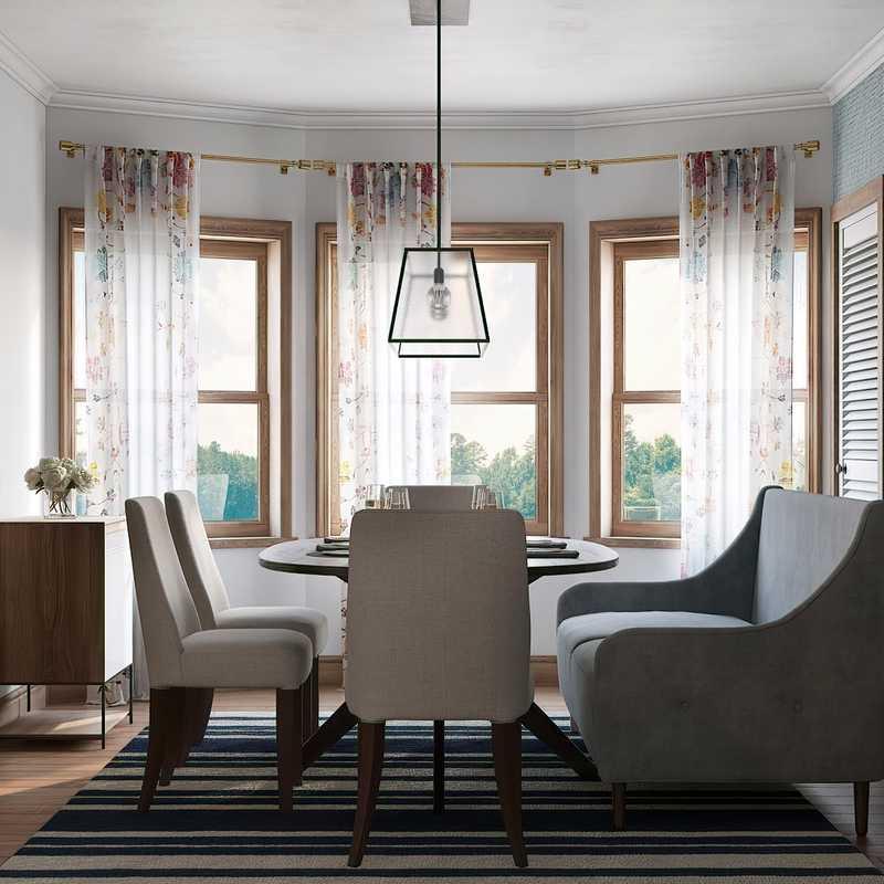 Coastal, Farmhouse Dining Room Design by Havenly Interior Designer Lauren