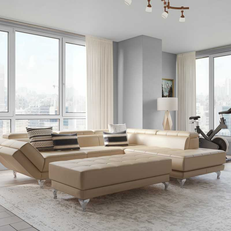 Contemporary, Classic, Transitional Living Room Design by Havenly Interior Designer Anny