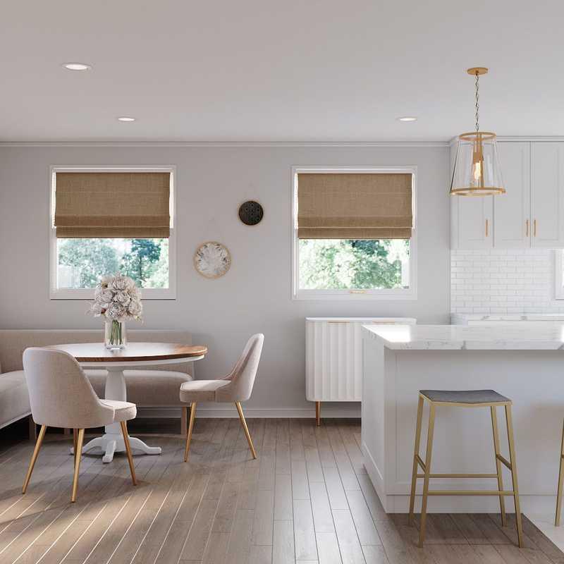 Contemporary, Modern, Classic, Glam, Farmhouse Dining Room Design by Havenly Interior Designer Mariela