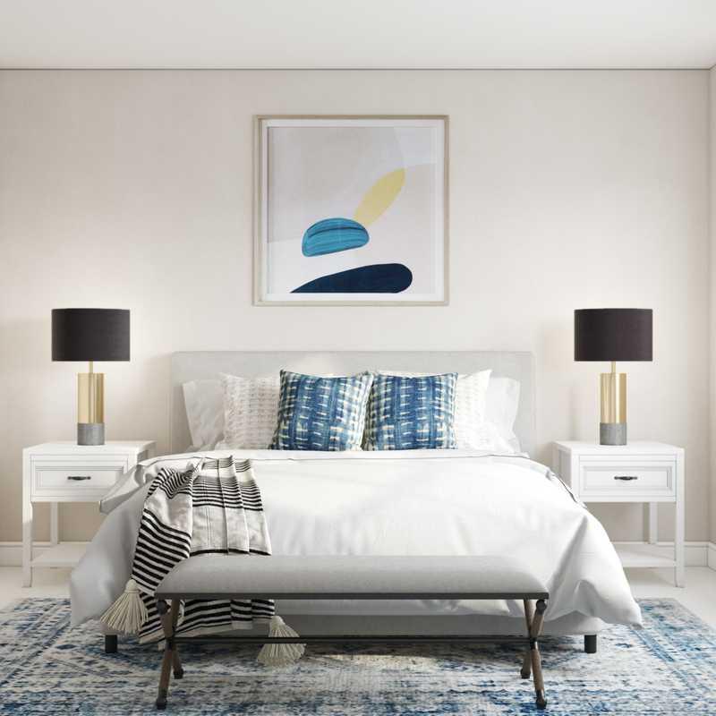 Modern, Bohemian, Farmhouse, Minimal Bedroom Design by Havenly Interior Designer Isaac