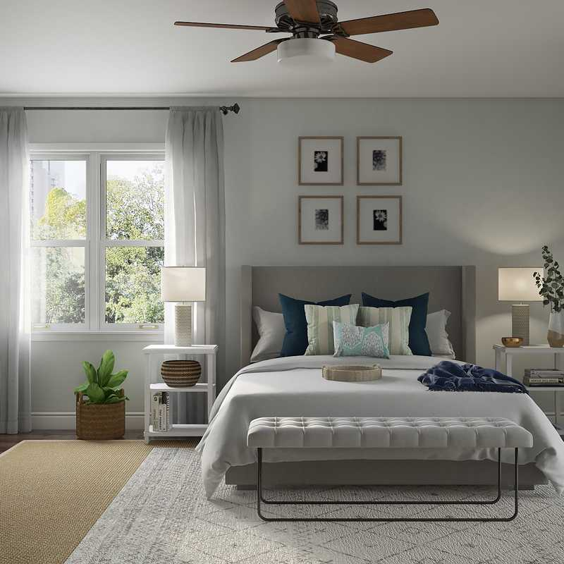 Classic, Eclectic, Coastal, Midcentury Modern Bedroom Design by Havenly Interior Designer Amanda