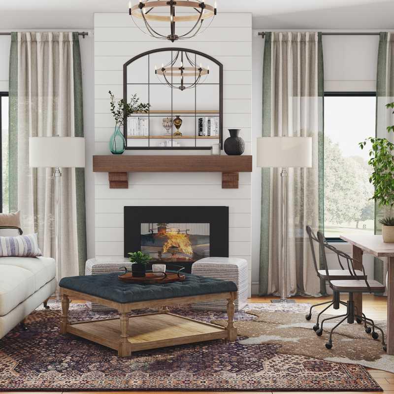 Modern, Minimal Living Room Design by Havenly Interior Designer Matthew