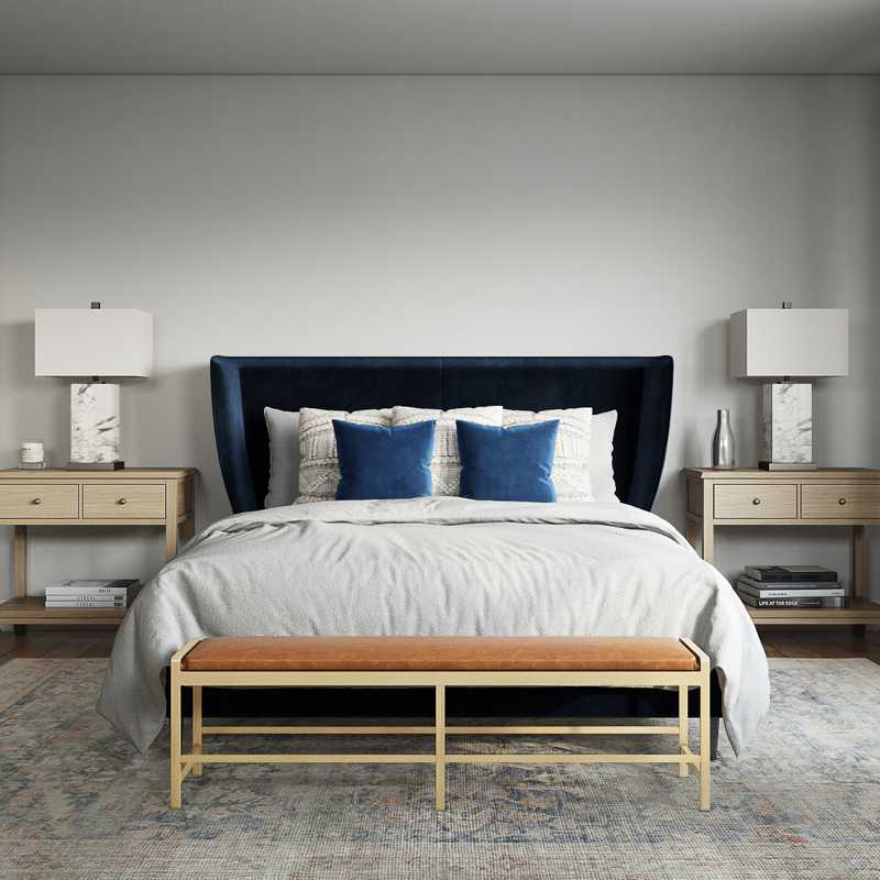 Classic, Coastal Bedroom Design by Havenly Interior Designer Victoria