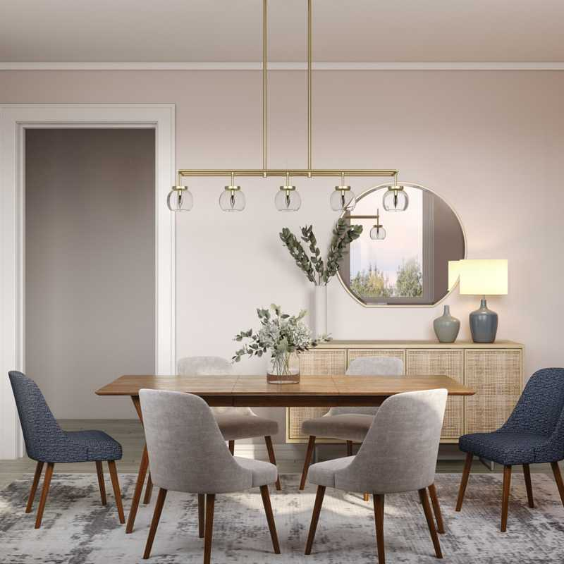 Eclectic, Midcentury Modern, Classic Contemporary Dining Room Design by Havenly Interior Designer Robyn