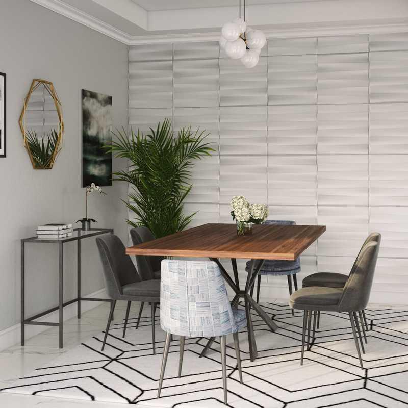 Modern, Scandinavian Dining Room Design by Havenly Interior Designer Shelby