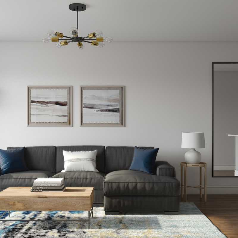 Contemporary, Midcentury Modern Living Room Design by Havenly Interior Designer Elizabeth