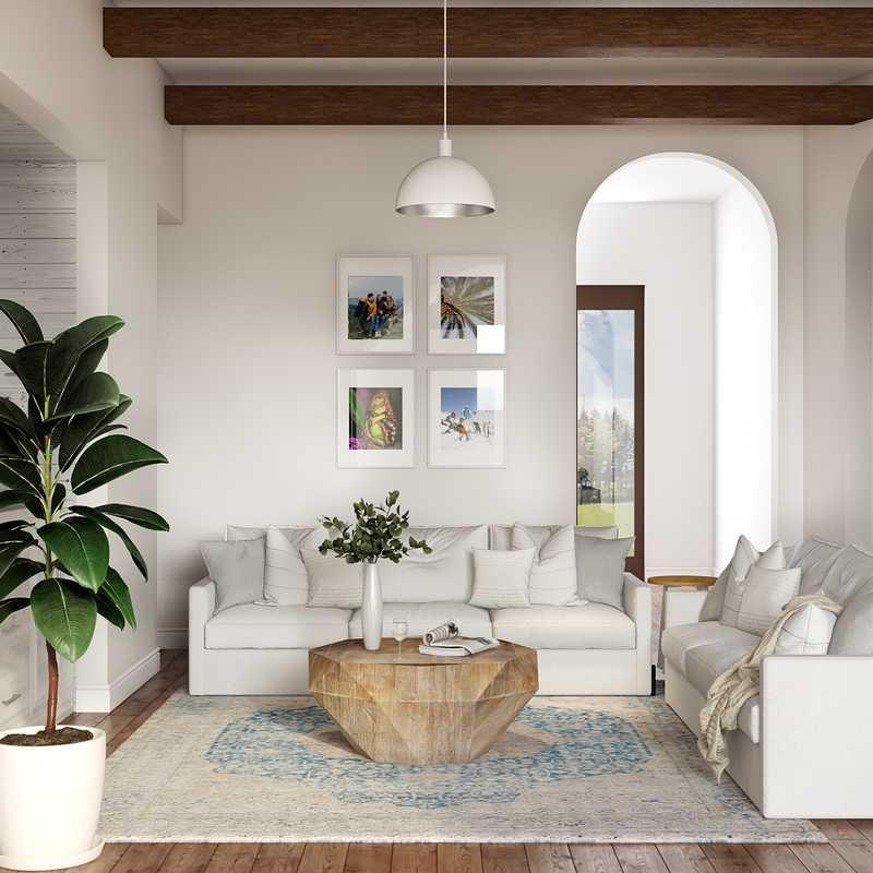 Coastal Living Room Design by Havenly Interior Designer Rita