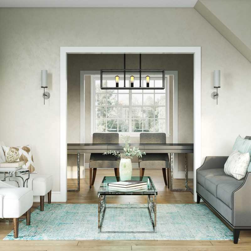 Contemporary Living Room Design by Havenly Interior Designer Natalie
