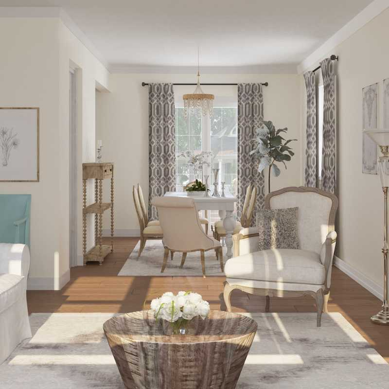 Classic, Traditional, Farmhouse, Rustic, Transitional Living Room Design by Havenly Interior Designer Lisa