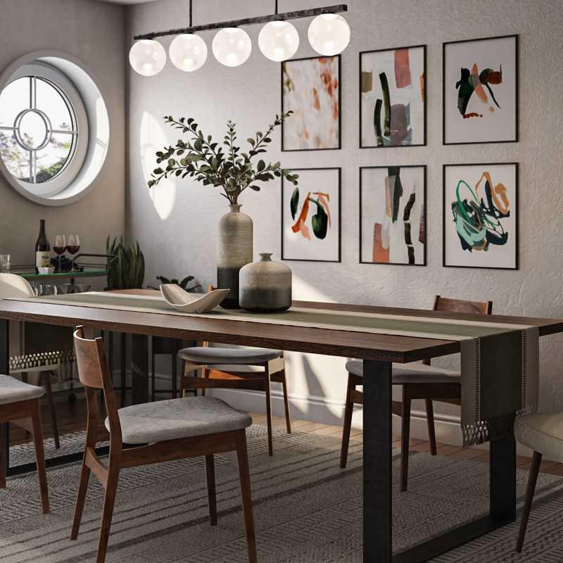 Modern, Midcentury Modern, Scandinavian Dining Room Design by Havenly Interior Designer Katie