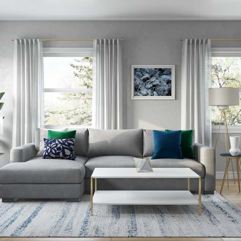 Contemporary, Modern, Classic, Transitional Living Room Design by Havenly Interior Designer Catrina