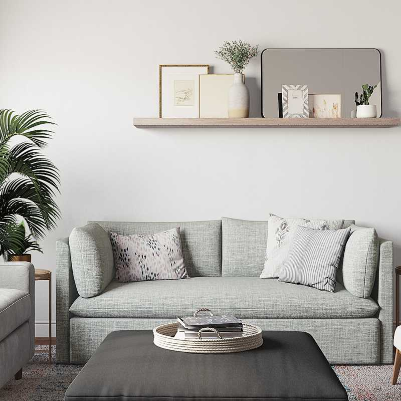 Modern, Transitional, Midcentury Modern Living Room Design by Havenly Interior Designer Brenna