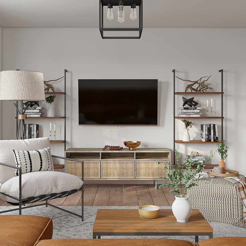 Modern, Bohemian, Midcentury Modern, Scandinavian Living Room Design by Havenly Interior Designer Taylor