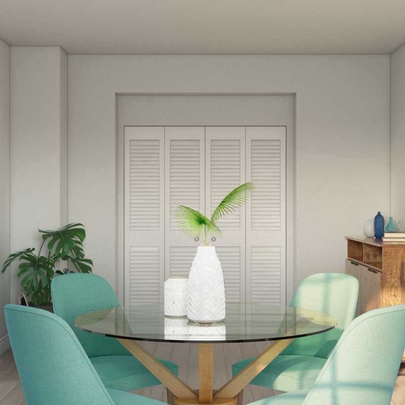 Modern, Bohemian, Midcentury Modern Dining Room Design by Havenly Interior Designer Waleska
