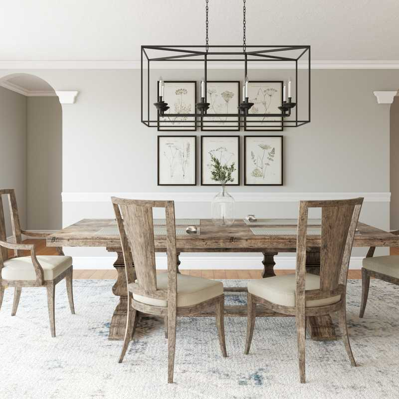 Farmhouse Dining Room Design by Havenly Interior Designer Nancy